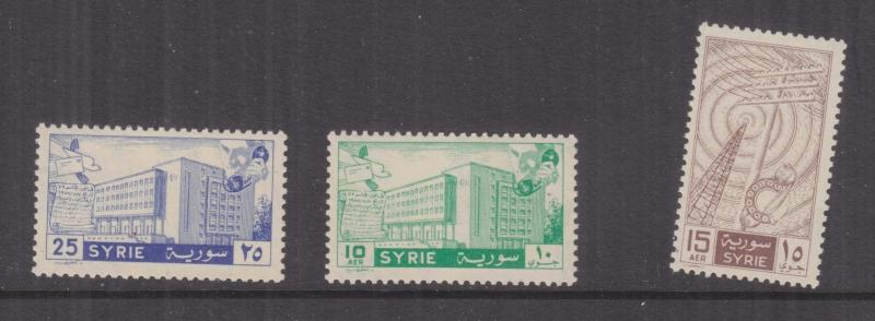 SYRIA, 1958 Five Year Plan set of 3, mnh.