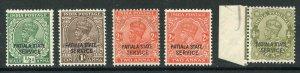 Patiala Service SGO58/O62 KGV set Fine Fresh M/M