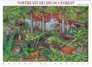 US #3899 2005 NORTHEAST DECIDUOUS FOREST  PANE OF 10 37C STAMPS- MINT NH