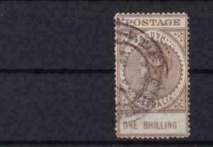 south australia large victoria  used  one shilling  stamp ref r13750
