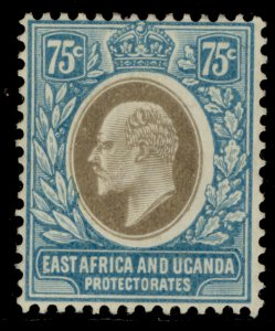 EAST AFRICA and UGANDA EDVII SG42, 75c grey and pale blue, M MINT.