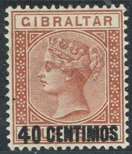 GIBRALTAR 1889 QV 40 CENTIMOS ON 4D