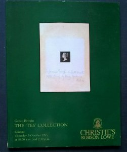 Auction Catalogue GREAT BRITAIN TES COLLECTION pre-adhesive & Line Engraved
