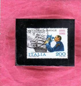 ITALIA REPUBBLICA ITALY REPUBLIC 1981 ACCADEMIA NAVALE DI LIVORNO LIRE 200 US...