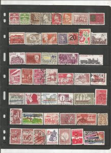 DENMARK COLLECTION ON STOCK SHEET, MINT/USED