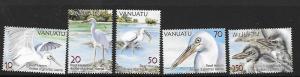 VANUATU SG989/93 2007 REEF HERONS MNH