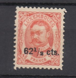J25718 JLstamps 1912-5 luxembourg part of set mh #95 ovpt