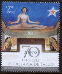 MEXICO 2835, MINISTRY OF HEALTH, 70th ANNIVERSARY. MINT NH VF.