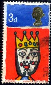 Christmas 1966, King, Great Britain stamp SC#478 Used
