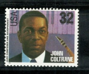 2991 John Coltrane(Jazz Composer & Saxophonist) Mint/nh Free Shipping