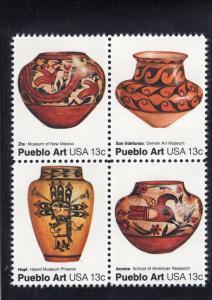 1709a Pueblo Art, MNH blk/4