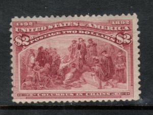USA #242 Mint Fine Full Original Gum Hinged