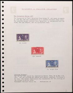 GILBERT & ELLICE ISLANDS 1937-55 KGVI Used Collection. SG cat £115.