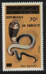 Djibouti Black-necked Cobra Snake 70f 1977 MNH SG#698