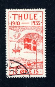 Greenland, Thule, #YV2,  Local Post, VF, Used, CV $8.50 ....2510265