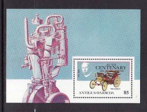 Antigua-Sc#972a-unused NH sheet-Cars-Automobiles-Daimler-1986-