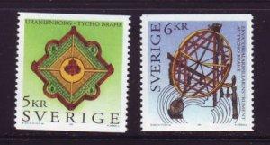 Sweden Sc 2149-50 1995 Tycho Brache stamp set mint NH
