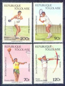 1988 Togo 2081-2084 1988 Olympic Games in Seoul 5,50 €