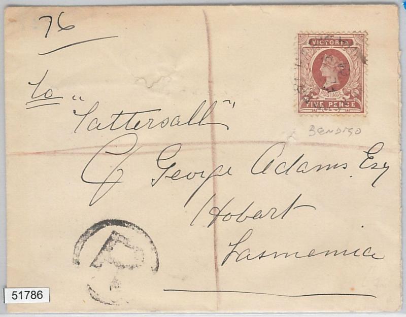 51786 - AUSTRALIA: VICTORIA - POSTAL HISTORY - REGISTERED COVER to TASMANIA 1901