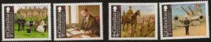 GIBRALTAR SG1355/8 2010 CENT OF ACCESSION OF KING GEORGE V MNH