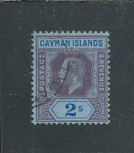 CAYMAN IS 1912-20 2s PURPLE & BRIGHT BLUE/BLUE FU SG 49 CAT £65