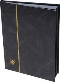 Lighthouse Stockbook Black Cover, 16 Black Pages, 01334