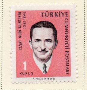 Turkey 1965 Early Issue Fine Mint Higned 1k. 093631