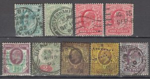 COLLECTION LOT OF #1078 GREAT BRITAIN 9 STAMPS 1902+ CLEARANCE CV + $112