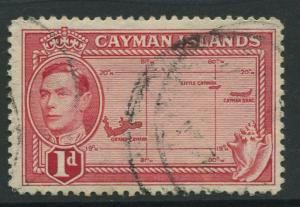 Cayman Islands -Scott 102 -KGVI Definitive Issue -1938- Used -Single 1d Stamp