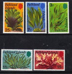 Falkland Islands 1979 QE2 Set Kelp and Seaweed Umm SG 355 - 359 ( F1066 )