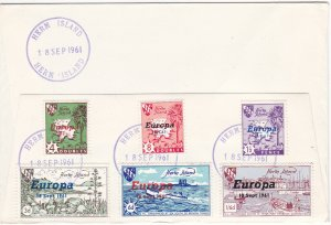 Herm Island,  Europa 1961 Overprints, Great Britain Stamps used to Mail, 1st Day