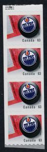 Canada 2663i end Strip MNH NHL Edmonton Oilers, Ice Hockey Puck
