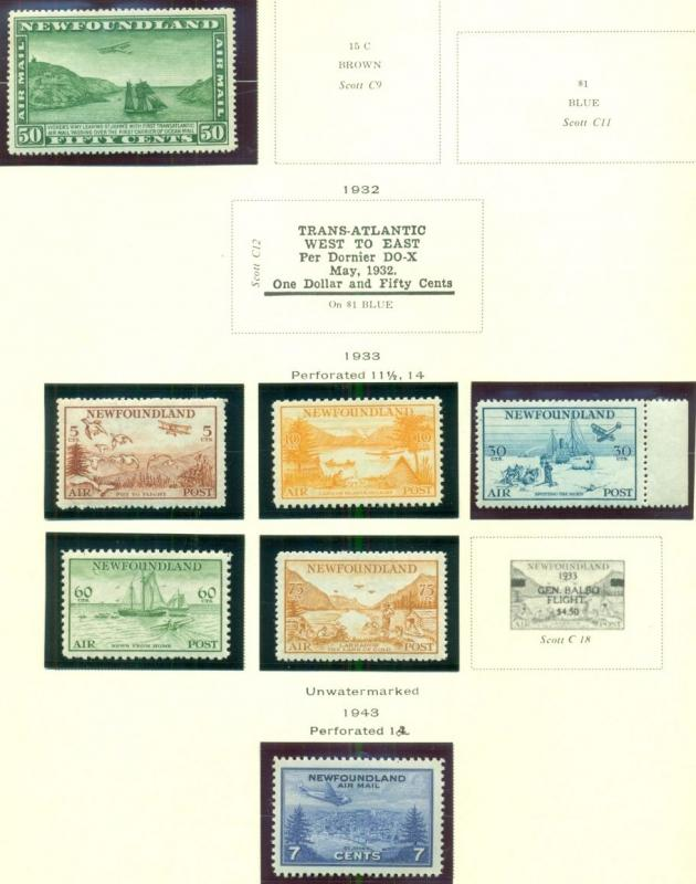 CANADA & PROVINCES COLLECTION – 1859 to1988  primarily Mint LH & NH Scott $9,851