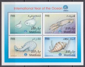 1999 Maldive Islands 3176-79KL Sea fauna 8,00 €