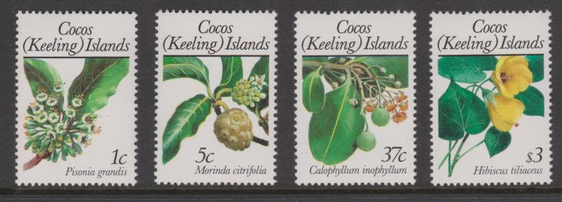 Cocos Keeling Islands Sc#183,185,190,198 MNH