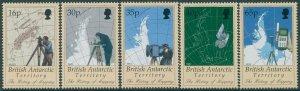 British Antarctic Territory 1998 SG281-285 Mapping set MNH
