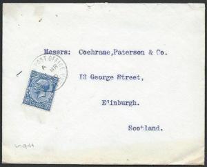 BR LEVANT 1920 cover GB 2½d BR PO SMYRNA cds...............................56696