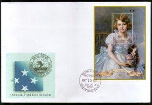 Micronesia 2001 Queen Elizabeth II 75th Birthday Sc 444 M/s FDC # 9395