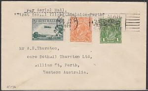 AUSTRALIA 1929 first flight cover Adelaide to Perth........................55156