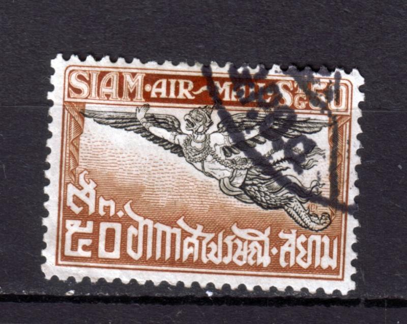 J9419 JL stamps1925 thailand used #c7 airmail
