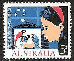AUSTRALIA Sc#384 1964 CHRISTMAS MNH