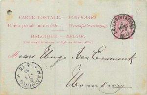 Entier Postal stationery 1893 Hamburg