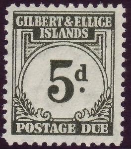 GILBERT & ELLICE ISLANDS SGD5, 5d grey-green, NH MINT. Cat £21.