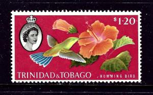 Trinidad and Tobago 101 MNH 1960 Hummingbird and Flower