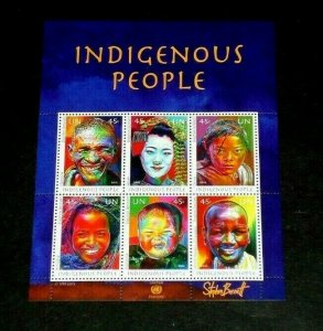 U.N. NEW YORK #1053, 2012, INDIGENOUS PEOPLE, SHEET OF 6 , MNH,  NICE!! LQQK!!!