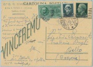 71819 - ITALIA REGNO  storia postale - INTERO POSTALE  spedito ESPRESSO 1943
