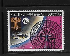 LIBYA, 671, USED ,ELECTRONIC TREE, SATELLITE AND RADAR