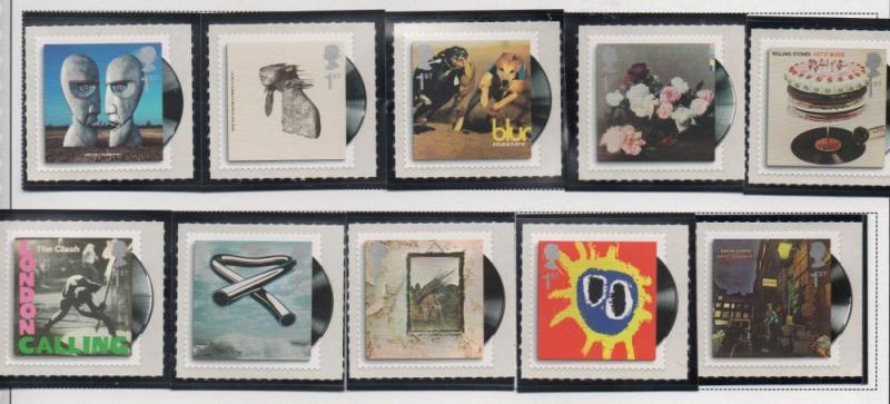 Great Britain Sc 2734-43 2010 Album Covers self adhesive stamp set mint NH