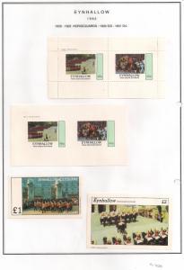 SCOTLAND - EYNHALLOW - 1982 - Horseguards - Perf, Imp 2v, Souv, D/L Sheets - MLH