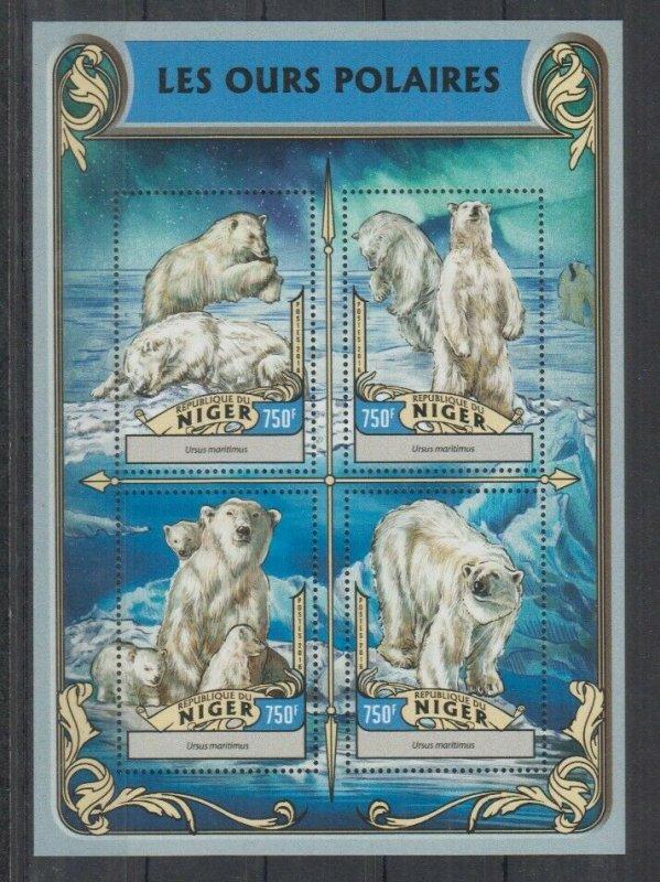 Niger MNH S/S Polar Bears 2016